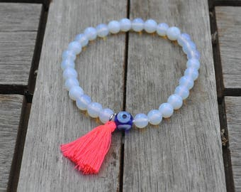 Turkish eye bracelet and pompon
