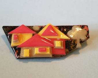 Vintage House Pin by Lucinda, House Pin by Lucinda, House Pins