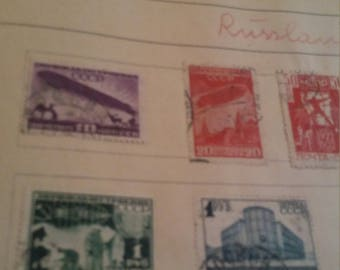 Russia airmail and crest stamps