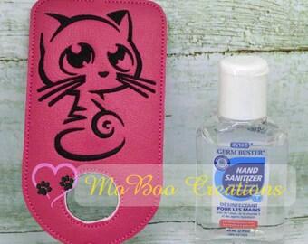 Cute Kitty hand sanitizer holder