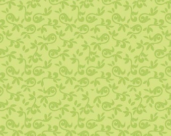 Halle Rose Green Floral Cotton Fabric by Lila Tueller for Riley Blake -  Halle Green Small Flora