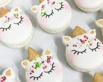 6 Unicorn Macarons