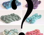 Mystery Single Skeins Hand dyed yarn Wool skein BFL Merino Silk 4ply yarn Dk weight Worsted weight lace weight luxury wool yarn grab bags.