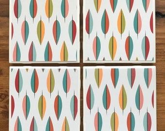 Mid Century Modern Graphic Leaves