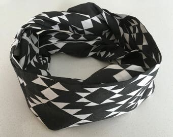 Infinity scarf - black and white diamond - Infinity scarf, scarf, baby, child, adult