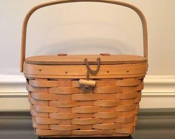 Vintage Bag- Vintage Longaberger Brown Woven Basket Bag
