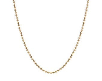"""14K Gold Ball Chain Necklace, Gold Ball Chain 1mm, 18""""-24"""", with Spring Clasp"""