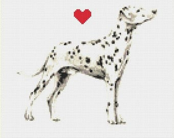 Dalmatian Counted Cross Stitch Pattern / Chart, Instant Digital Download (AP328)