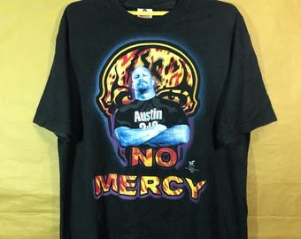 WWF Wrestling 1999  Stone Cold Steve Austin No Mercy T-shirt Adult Xlarge Size Chest 23""