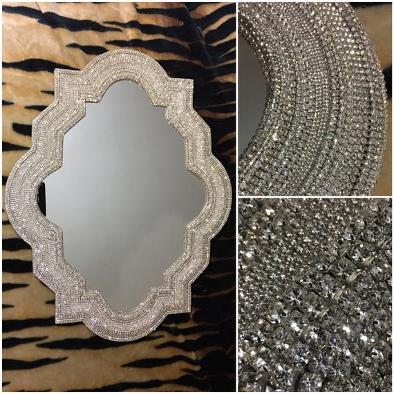 Rhinestone Wall Mirror mirror / 30 x 24 mirror / rhinestone mirror / wall