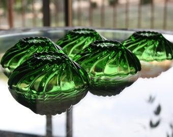 Set of 6 Hazel Atlas Capri Swirl Glass Bowls
