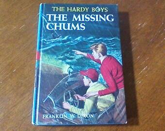 The Hardy Boys The Missing Chums, Hardy Boys #4, Vintage Hardy Boys Book, Hardy Boys Hardcover Chapter Book, 1962