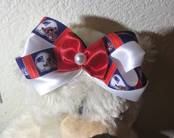 NFL Patriots Hair bows