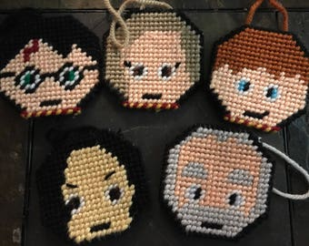 Harry Potter ornaments/magnets/coasters