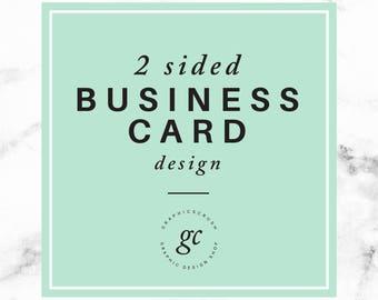 Custom Business Card Design 2 sided