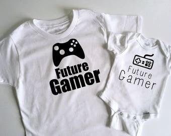 Future Gamer Onesie - Nerdy Baby - Baby Gamer - Nerdy Toddler - Nerdy Kid