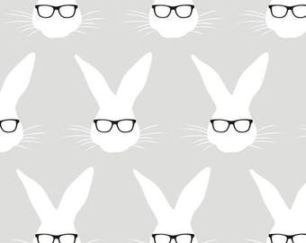 Geeky Bunny Leggings / Pants - Nerdy Baby Leggings - Nerdy Kids Leggings  - Nerdy Toddler Leggings