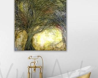 Black Tree painting Oil Painting Black Trees painting Tree painting original painting abstract painting single canvas nature painting art