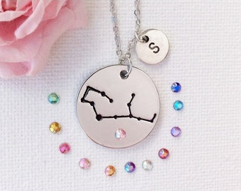 VACATION SALE Virgo necklace, virgo jewellery, virgo constellation, virgo jewelry, virgo star sign, virgo starsign, virgo, gift for virgo, S