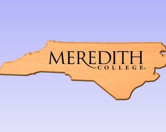 2D Plaque Meredith College (Your Choice of Pattern and Design)