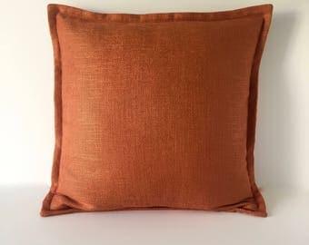 "Designer Pillow -  Accent Pillow - Decorative Pillow Cover - Orange Basketweave Throw Pillow 20"" x 20"""