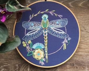 Dragonfly Hoop Art