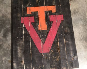 Virginia Tech Handpainted Sign