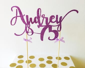 Name Cake Topper, Custom Birthday, Any Age, Name, Colour - 18th, 21st, 30th, 40th, 50th, 60th, Party decorations, Cake Decor, Personalised