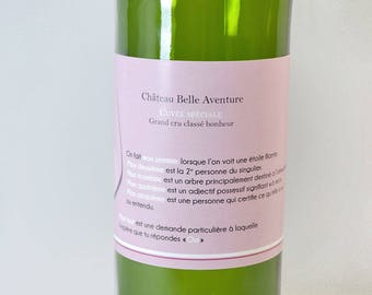 Request witness - wine bottle label - charade