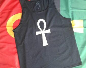 Black Ankh Tank Top Men Ankh shirt