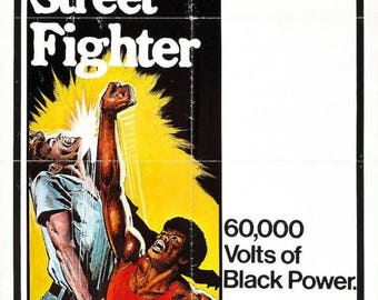 Summer Sale The BLACK STREET FIGHTER Movie Poster Rare Kung-Fu