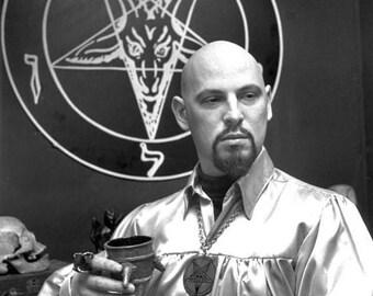 Back to School Sale: ANTON LAVEY - Poster Satan Satanist Occult Baphomet