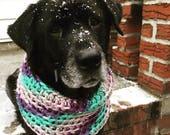 Bohemian Dog Snood — Blue Dog Snood — Dog Scarf — Blue Dog Scarf — Purple Dog Snood — Warm Dog Snood —  Snood For Dog — Unique Dog Gift