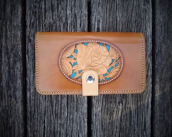Women's Leather Clutch Wallet