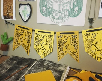 Harry Potter Hufflepuff Pennant flags