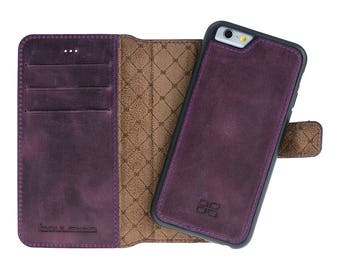 iPhone 6 6S / 6 Plus 6S Plus Detachable Wallet Case - Snap-on Case (2 Case in 1), iPhone 6 Case, Perfect for Cards and Cash, in AnticPurple