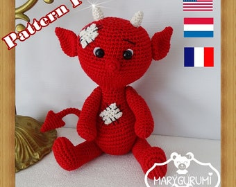 Crochet Pattern, pattern, tutorial, Amigurumi, Devil