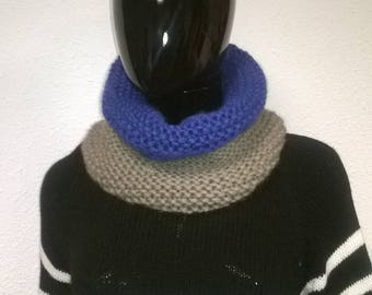 snood or tube scarf handmade two color