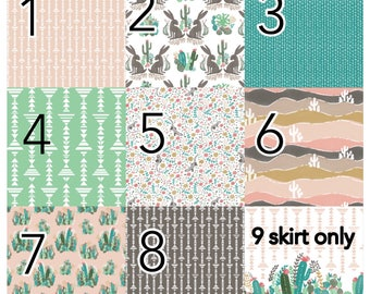 Custom crib bedding, palm springs, cactus, desert, arizona, gender neutral, baby girl, baby boy, crib bumpers, skirt, quilt