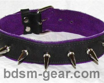 Deluxe Spiked Leather Collar