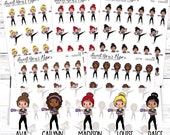 Kickboxing Planner Stickers - Work Out Planner Stickers - Kickboxing Class Stickers - Gym Stickers - 1456 - 1457 - 1458 - 1459 - 1460