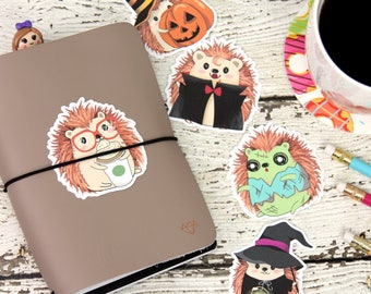 Halloween Die Cuts - Planner Die Cuts - Hedgehog Die Cuts - Planner Accessories - Traveler's Notebook Accessories