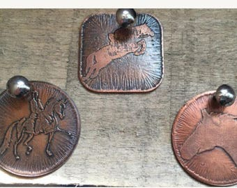 Dressage copper tag ~ Copper Etched Tag ~ Saddle Tag ~ Bridle Tag ~ Halter Tag ~ Etched Horse ID tag ~ Copper Horse Tag ~ Horse Bridle Tag