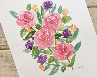 Rose Floral Watercolor