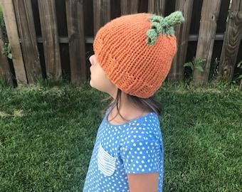 Knitted pumpkin beanie!