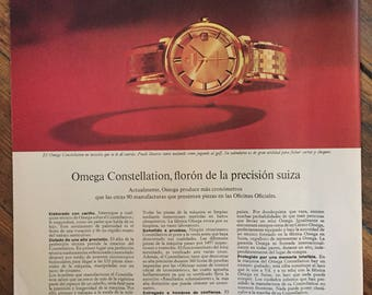 Omega Constellation Floron (1964) Vintage ad - written in spanish