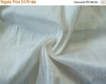 10% OFF White Silk Fabric, Pure Dupioni Silk Fabric, Silk Fabric, Indian Silk Fabric