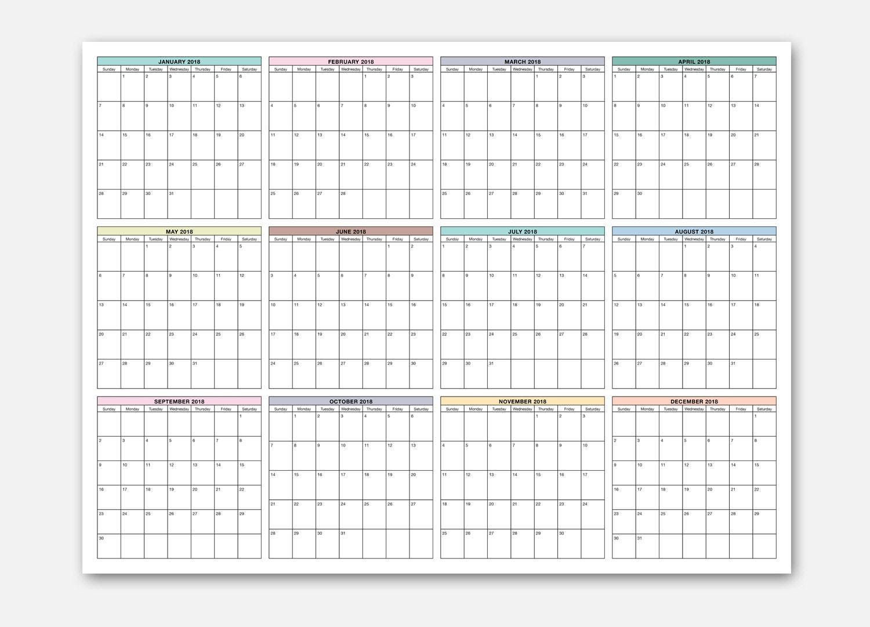 Wall Calendar 2018 Calendar At A Glance Calendar Monthly At