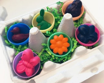 Easter crayons | Party Favors | Easter Egg Carton with Crayons | Easter Basket Stuffers