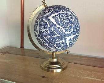 Custom Globe, Globe, World Globe, Travel Globe, Travel Gift, Wanderlust, Adventure, Travel, Decoupage, Decoupage  Globe, Decoupage Map